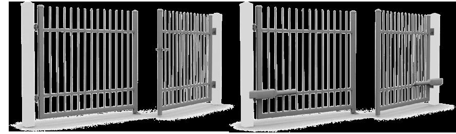 portails à deux battants